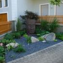 Brunnen im asiatischen Stil im Garten
